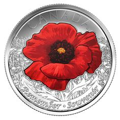 Canada 2015 Wwii Coloured Remembrance Day Flanders Fields Poppy 25 C Coin Flanders Field Poppies, Flanders Poppy, Canadian Culture, Canadian History, Old Coins, Rare Coins, Poppy Images, Remembrance Day Poppy, Canada Pictures