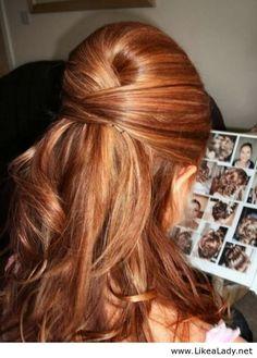 Beautiful prom hair idea