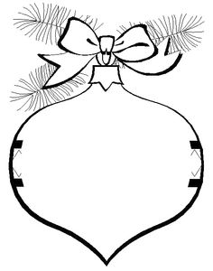 christmas ornament that garnished with ribbons and leaves coloring page christmas coloring pages kidsdrawing
