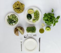 Monochromes fruhstuck - groen