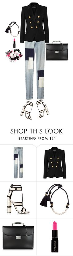 """Entrepreneur"" by s0f1a ❤ liked on Polyvore featuring Simon Miller, Balmain, Lanvin, Pineider, Smashbox and modern"