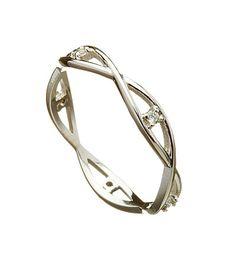 Celtic Wedding Rings: Women\'s Infinite Weave Band with Diamonds ...