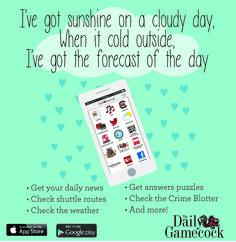 The Daily Gamecock App #Rain #app #weather #forecast #design ©UofSC Student Media