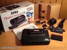 Lote Consola Sega Master System II PAL Completa en Excelente Estado + juegos Sonic y Alex Kidd