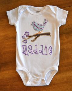 Adore this Perched Bird onesie!  Perfect for my future little girls.  :)