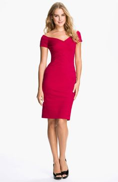 T by Tadashi Off Shoulder Bandage Dress available at Nordstrom. If over fifty dont forget to cover ur bingo arms