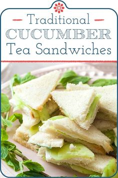 Cucumber Sandwiches! Simple, easy, and delicious cucumber tea sandwiches satisfy cravings for a light lunch or an afternoon snack. They are also the perfect party food! Whip up a batch for Mother's Day, Easter, bridal showers or baby showers.#simplyrecipes #cucumbersandwich #easysandwiches #cucumber #fingerfood