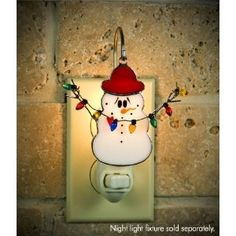 Switchables Snowman Stained Glass Nightlight Cover