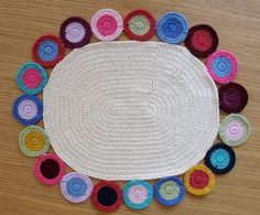 Crochet penny rug by tintocktap on Flickr. Nice job!