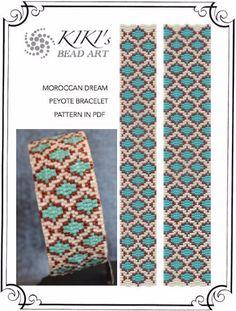 Pattern peyote bracelet Moroccan dream tile por KikisBeadArts