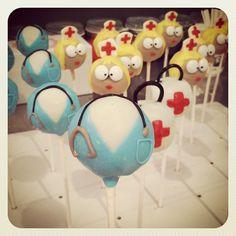 Yummy AND cute! Cake pop nurses...