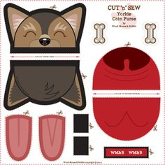 Yorkie_Coin_Purse by woodmouse&bobbit, click to purchase fabric