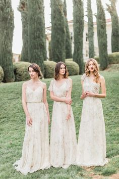 Jenny Yoo 2016 Mismatched Printed Bridesmaid Dresses / http://www.deerpearlflowers.com/jenny-yoo-2016-bridesmaid-dresses/2/