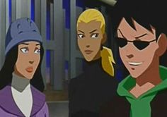 """Season 1 Episode 20 Coldhearted: Artemis, Dick, & Zatanna: Artemis: """"Should we tell him?"""" Dick: """"He is the only one who doesn't know."""" Artemis: """"Then please, allow me."""""""