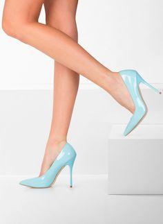Szpilki Miss Classy Baby Blue Pat High Heels / Szpilki / Obuwie damskie - Buty w stylu gwiazd. Modne obuwie, najnowsze trendy, atrakcyjne ceny. Sklep z butami i ubraniami, modne buty letnie i zimowe - DeeZee.pl