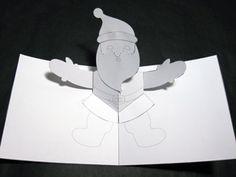 Pop-Up Santa Christmas card