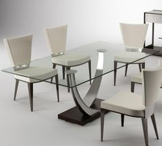 Modern Dining Tangent Dining Table by Elite Furniture