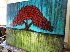 Abstract Tree Painting by Louisiana Artist Derek Patterson