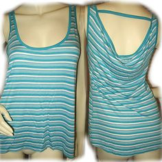 NEW GUESS Womens Blue GREEN WHITE STRIPES Sleeveless TANK TOP SHIRT $39.98 BUY NOW at   http://stores.ebay.com/Tropical-FEEL