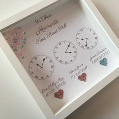 A beautlful frame perfect to celebrate those special moments in time when time stood still The maximum amount of clocks you can have is 4 up to 3 can