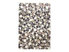 Rent the Puffed Beige Gray Dots Rug