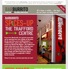 Barburrito newsletter design by Ahoy Creative