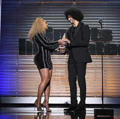 In case you missed it Beyoncé presented Colin Kaepernick with Sports Illustrated's Muhammad Ali Legacy Award last night. via COMPLEX MAGAZINE OFFICIAL INSTAGRAM - Fashion Campaigns  Culture  Advertising  Editorial Photography  Magazine Cover Designs  Supermodels  Runway Models