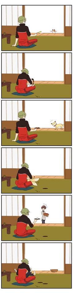 【刀剣乱舞】鶯丸は色んな生き物を引き寄せるのが上手い【とある審神者】 : とうらぶ速報~刀剣乱舞まとめブログ~