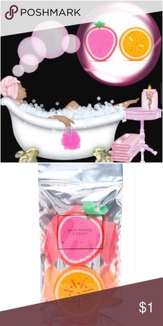 PINK VS Cool & Bright Wash/Scrub & Sponge ✌🏾️EYE-IT...BUY-IT✌🏾️Cool & Bright: fresh, with fresh magnolia and bergamot splash; foaming wash & scrub w/gentle, skin-polishing microbeads; approx. meas. 10.1 fl. oz; nourishing Vitamin E & C📌Forever 21 fruit sponge set; unscented, included📌 PINK Victoria's Secret Accessories