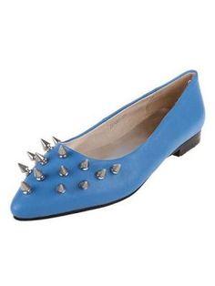 Leather Comfortable Soft Rivet Tip Shoes  www.choies.com