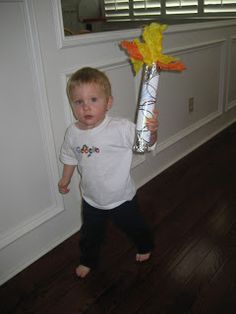 Toddler Approved!: Olympic Torch and Relay Activity