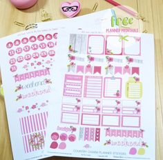 Country Charm Planner Stickers – Free Printable | Vintage Glam Collectibles by Dru Cortez