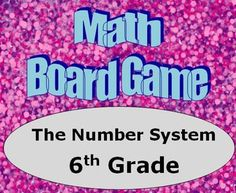 Students must answer questions drawn from game cards to move along the board and be the first player to arrive at the Finish space! There is a board game on each of the common core domains in 6th grade.