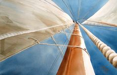 some bugs are truly brave. Sailboat Painting, Marines, Boats, Nautical, Sailing, Artsy, Colours, Landscape, Watercolors