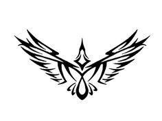 Tribalish raven tattoo Wallpaper