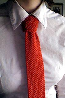 Knit Necktie by Lion Brand Yarn (ravelry.com)