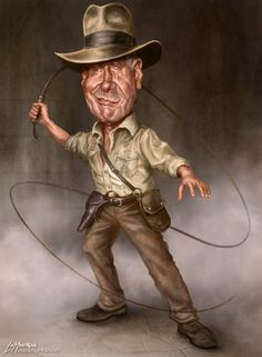 Indiana Jones Caricature    Patrick LaMontagne is the leading cartoonist in the Canadian Rockies.