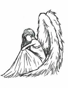 Sad angel by Sioban-Mckey on DeviantArt Doll Drawing, Drawing Sketches, Painting & Drawing, Drawing Ideas, Sketching, Sketch Art, Drawing Tips, Diy Painting, Sad Angel
