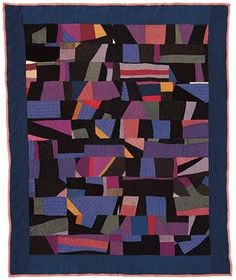 """Crazy Quilt circa 1930 from Arthur, Illinois. 78"""" x 63""""  Brown Collection"""