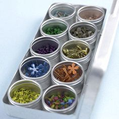 Use Metal Tins to Easily Organize Small Scrapbooking Supplies