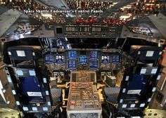 """STRANGE NASA PHOTOS - AMAZING PHOTO OF THE PILOTS VIEW OF THE INSTRUMENT PANEL OF THE SPACE SHUTTLE """"ENDEAVOR'S"""" CONTROL PANEL! WOW!"""