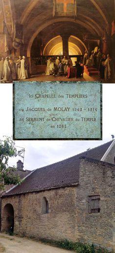 Maison du Temple de Beaune (Beaune Commandery) Beaune, Côte-d'Or, France. Where Jaques de Molay, the last Grand Master of the Knights Templar, joined the Order. + picture of Jacques de Molay joining the Order in 1265 at the Beaune Commandery, by Marius Granet 1777-1849. ...... http://www.templar-quest.com