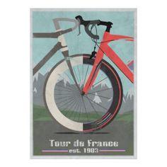 Poster Bici del Tour de France #ciclismo #zazzleespaña