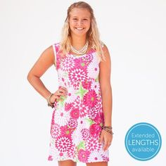 Ladies Custom Print Zinnies Tank Dress