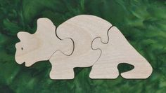"""Puzzles help to develop small motor skills, hand-eye coordination and visualization skills that help with reading development. He is made from toy grade 1/2"""" Baltic birch plywood and is rubbed with AMF Naturals, an oil wax finish that is completely safe. Dimensions 3.75"""" high and 8.25"""" wide"""