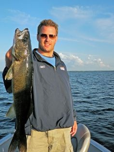 Former Winnipeg Blue Bomber, Doug Brown, with his big walleye at Aikens Lake Wilderness Lodge, Manitoba. Lake Winnipeg, Winnipeg Blue Bombers, Canadian Football League, Home Team, Places Of Interest, Nova Scotia, Wilderness, Hockey, Hunting