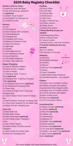 Jan 2020 - The baby registry checklist for Everything you actually need for your baby registry. Includes a FREE printable baby registry checklist. Baby Registry Checklist, Baby Registry Must Haves, Baby Registry Items, Baby Checklist Newborn, Baby Shower Checklist, New Baby Checklist, Best Baby Registry, Baby Shower Registry, Pregnancy Checklist