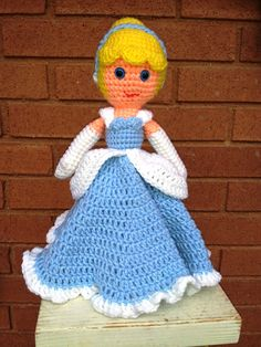 CROCHET PATTERN ONLY Cinderella Lovie Doll by ChrisCrossCraftsEtsy, $2.50