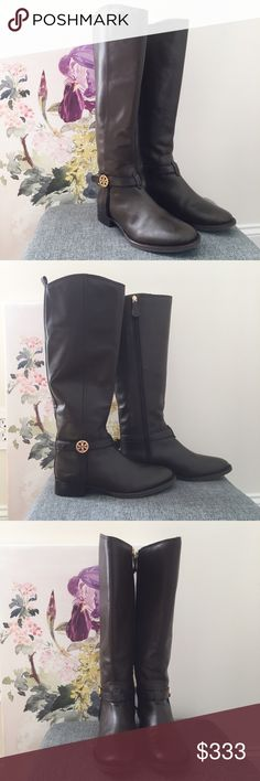 Tory Burch Amanda Riding Boots In a beautiful deep brown, these Tory Burch riding boots are a beautiful shoe. The soft smoother leather is lovely. In great condition. 60140 Tory Burch Shoes Winter & Rain Boots