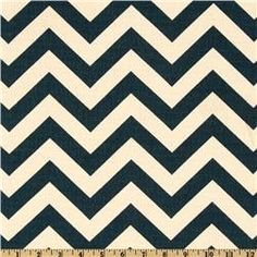 I know the zigzag thing is so trendy right now, but I can't help loving it! Used this in lime green and white in the nursery, but love these colors for a more grownup space. Premier Prints via fabric.com.